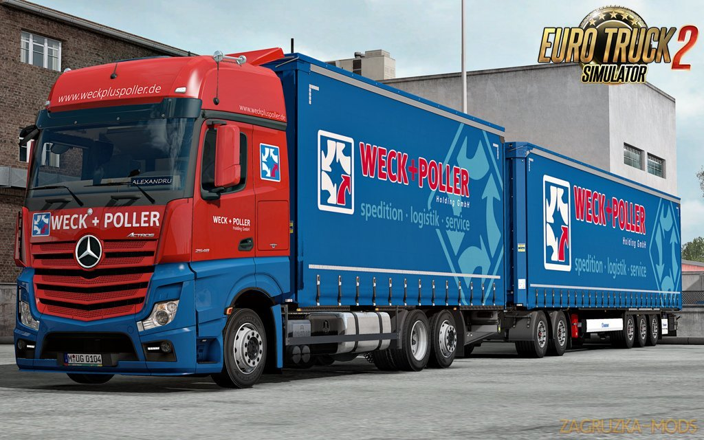 Mercedes Actros MP4 Rigid Chassis Mod v1.2 (1.34.x)