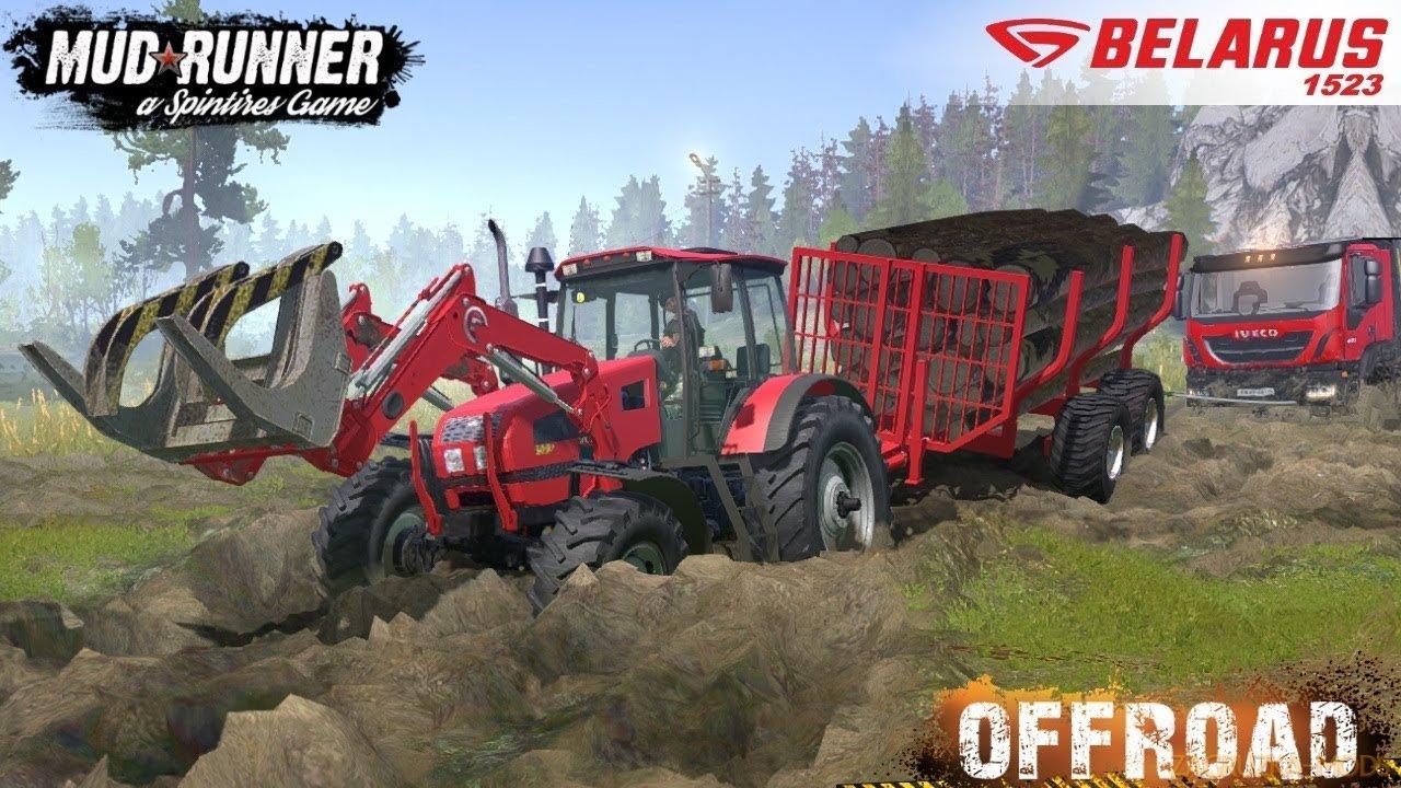 Tractor MTZ Belarus 1523 v1.0 (v19.11.18) for SpinTires: MudRunner