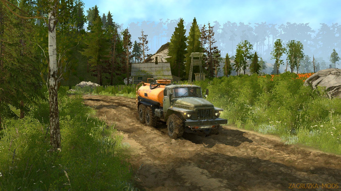 Area of Nature Map (Район природ) v1.0 for SpinTires: MudRunner