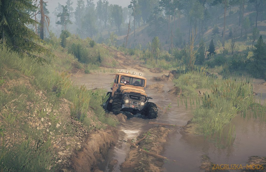 Steeply Inclined Map v1.0 for SpinTires: MudRunner