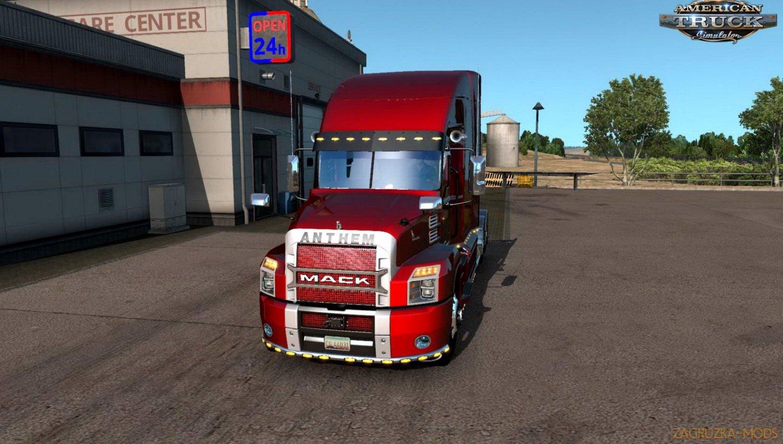 Mack Anthem Custom Truck + Interior v1.0 (1.34.x) for ATS