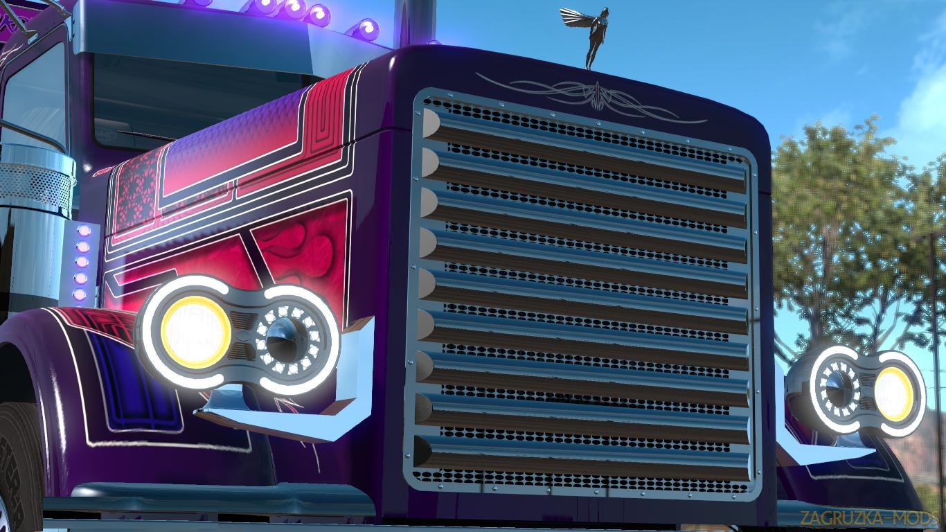 Trux Purple Haze Slin & Parts + lights v1.0 (1.34.x) for ATS