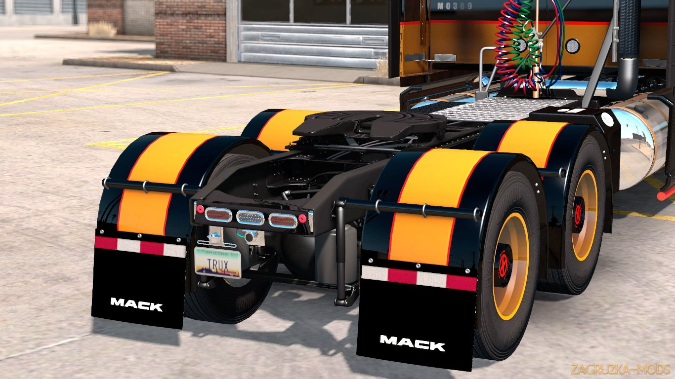 Zac Brown Mack Anthem Truck & Trailer Skins + Parts Tuning v1.0 (1.34.x) for ATS