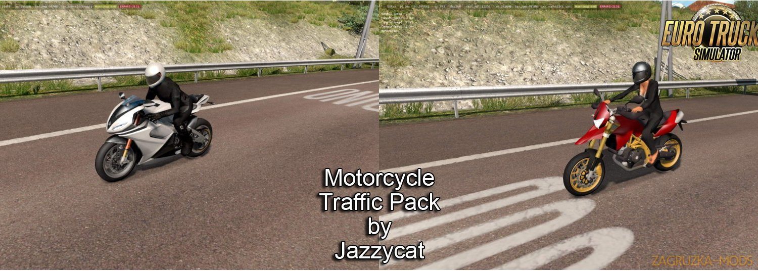 Motorcycle Traffic Pack v2.6 by Jazzycat