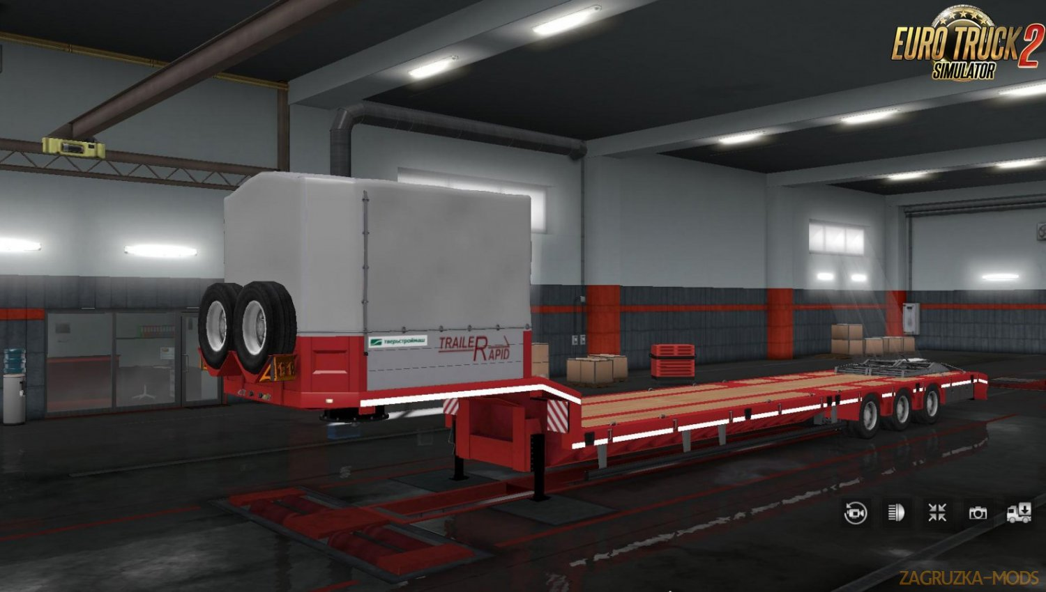 Owned Trailer Platform Tverstroymash v1.0 for Ets2