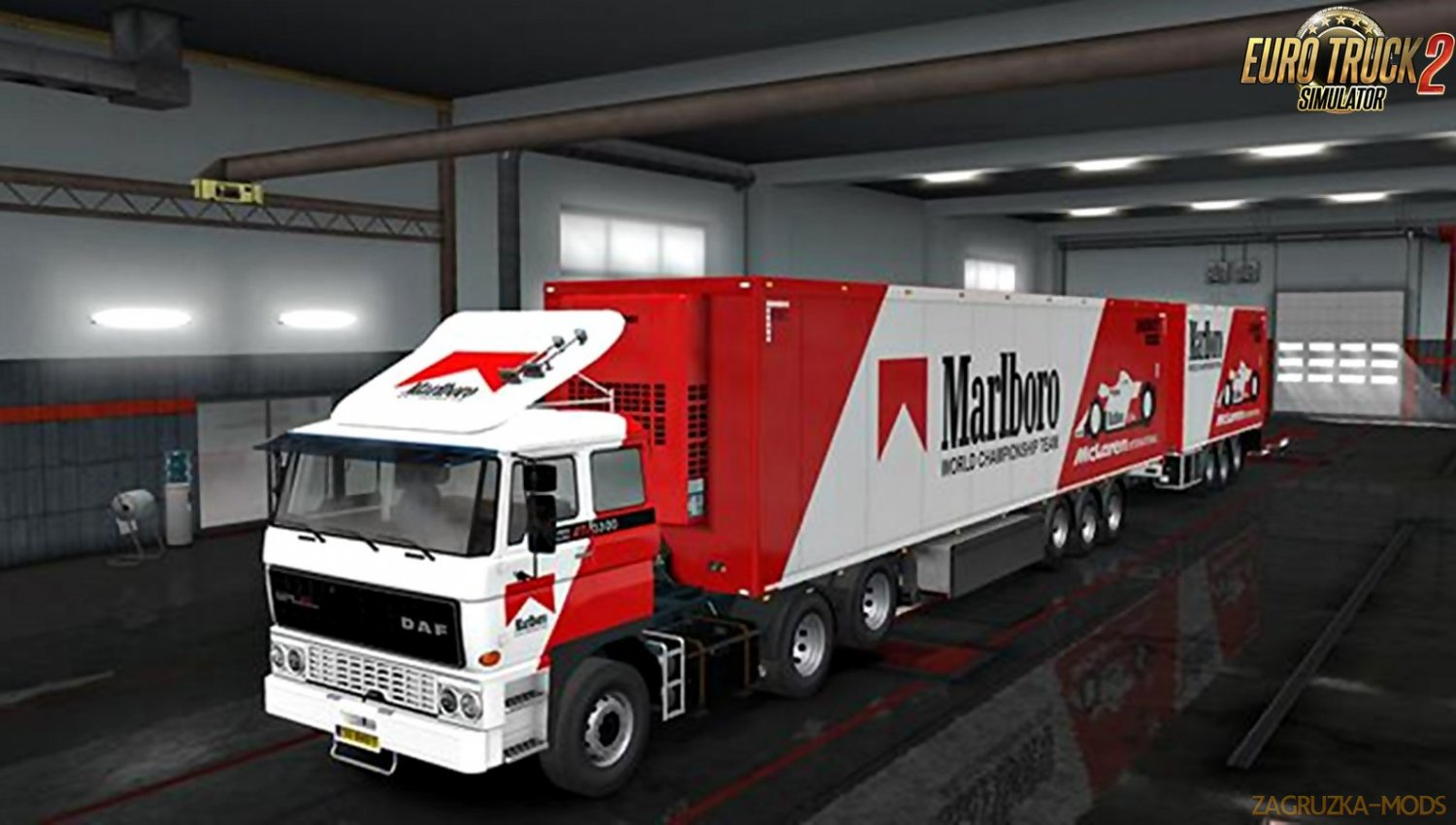 "Combo skin ""Marlboro"" for DAF F241 and its trailer v1.0"