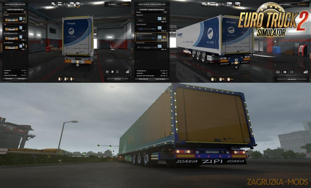 Slots for KRONE Trailers v0.13 in Ets2