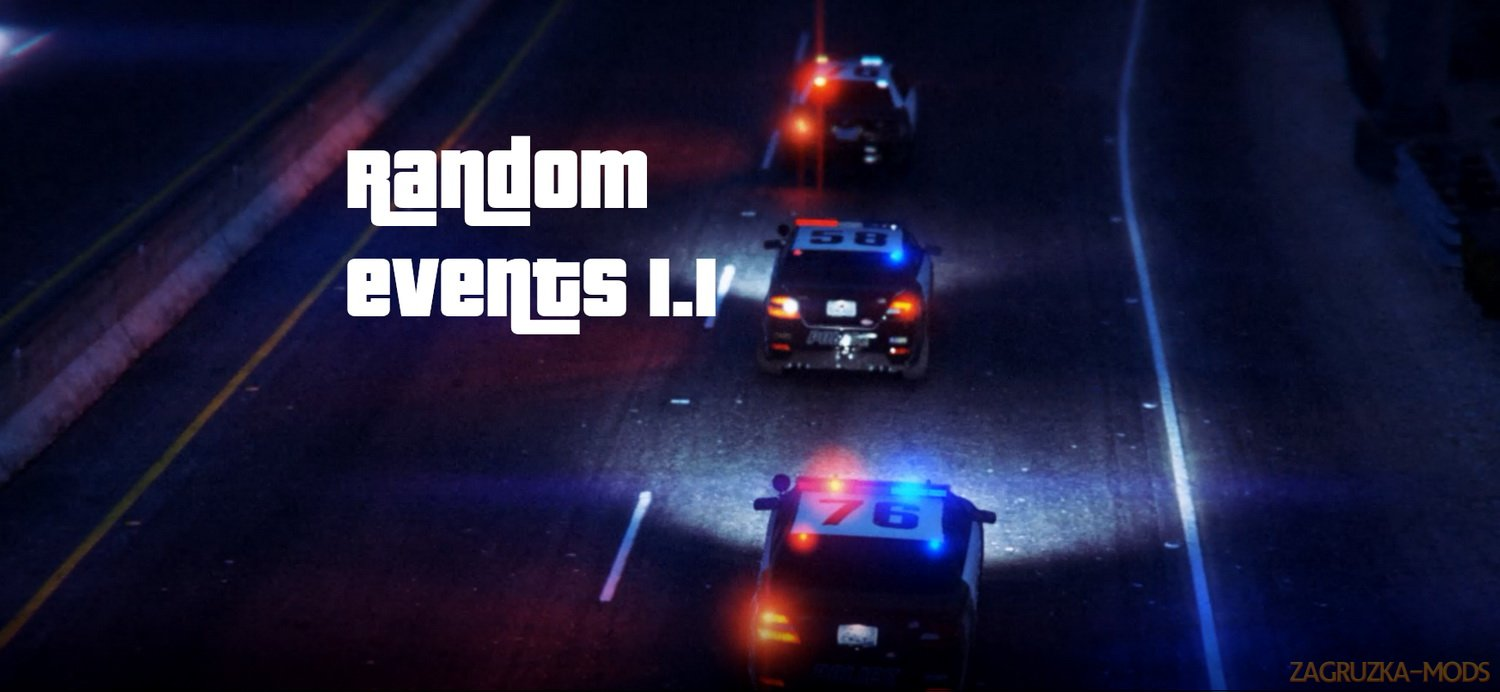 Random Events 1.1b for GTA 5