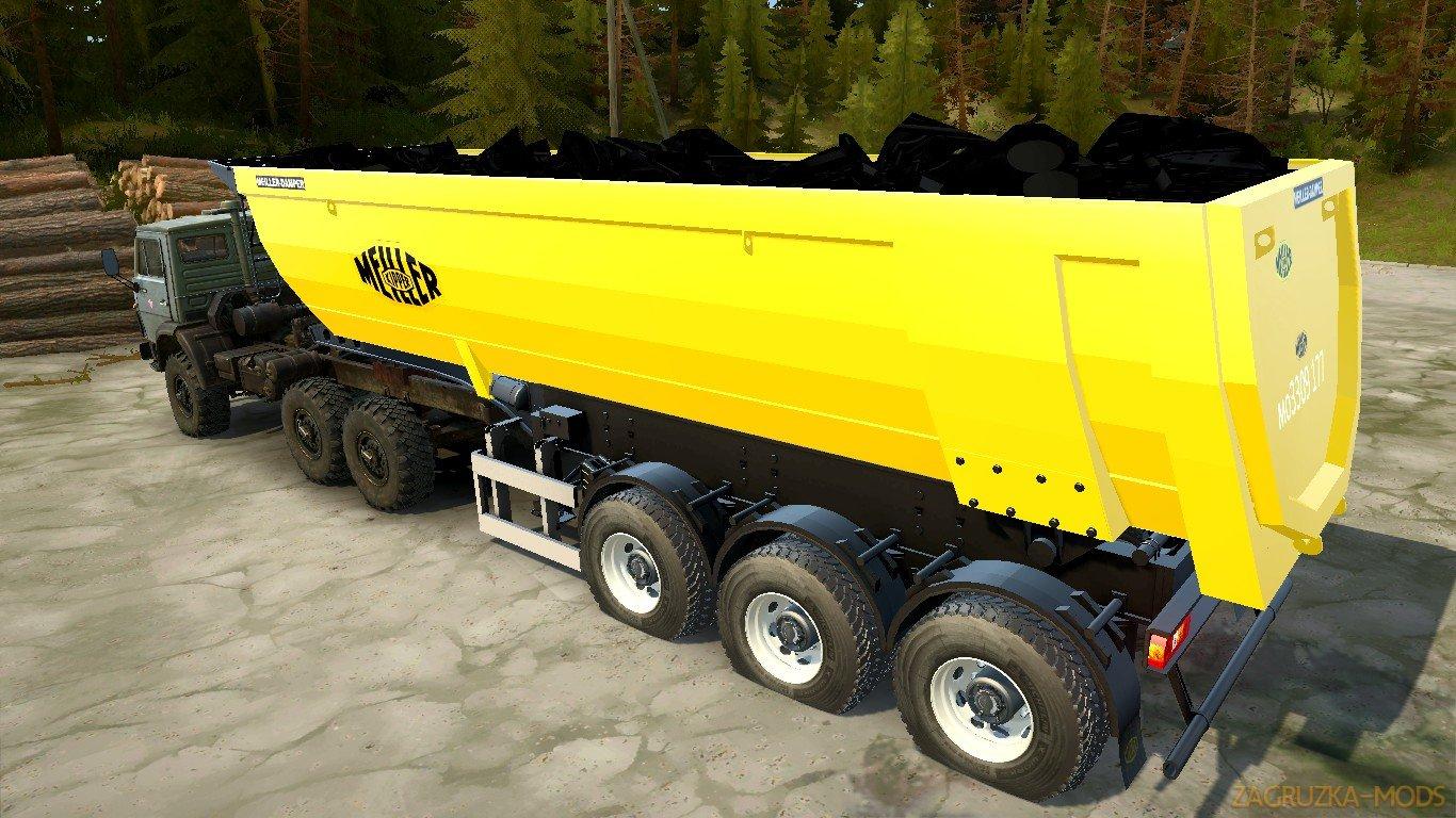 Meiller Semi-Trailer Dump Truck v1.0 for Spin Tires: MudRunner