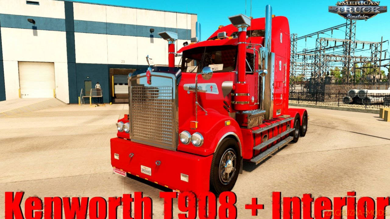 Kenworth T908 + Interior v6.4 by RTA Team (v1.34.x) for ATS