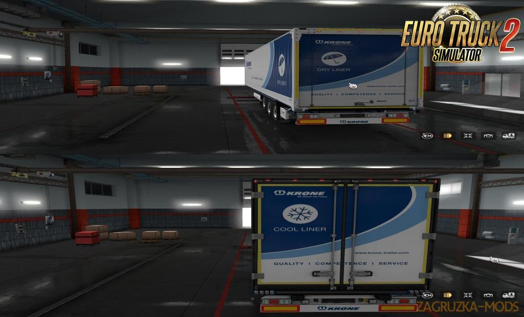 Slots for KRONE Trailers v0.19 in Ets2