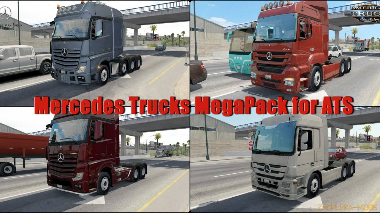 Mercedes Trucks Megapack v1.0 (1.34.x) for ATS