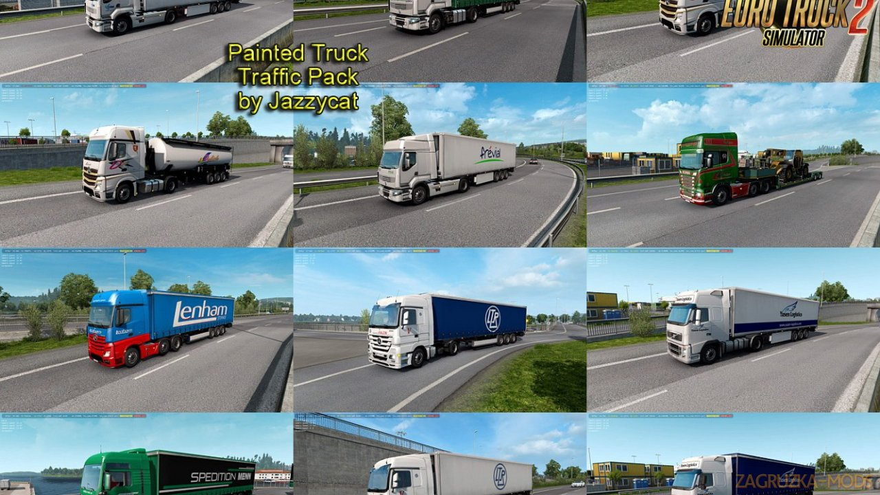 Painted Truck Traffic Pack v7.6 by Jazzycat