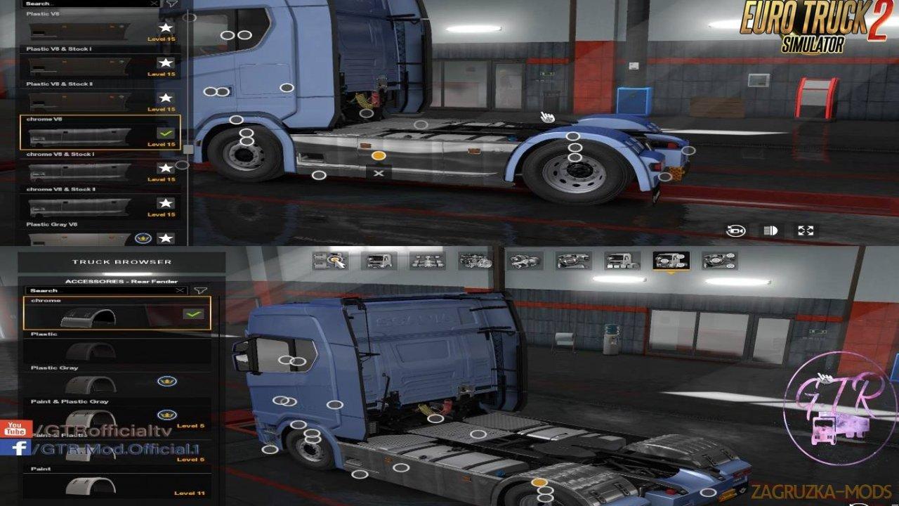 Scania S & R Next Gen Accessories Chrome by GTR