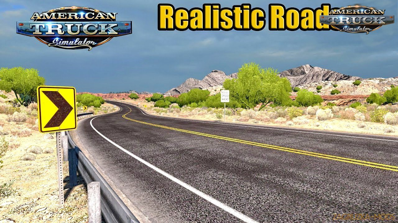 Realistic Roads v3.2 by Slavsan93 (1.34.x) for ATS