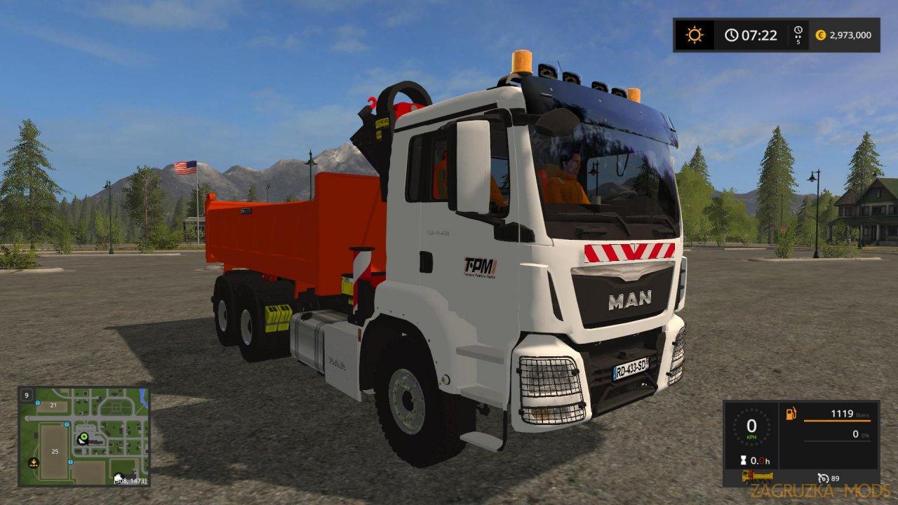 Man Crane Tipper (TPM Version) v1.0 for FS17