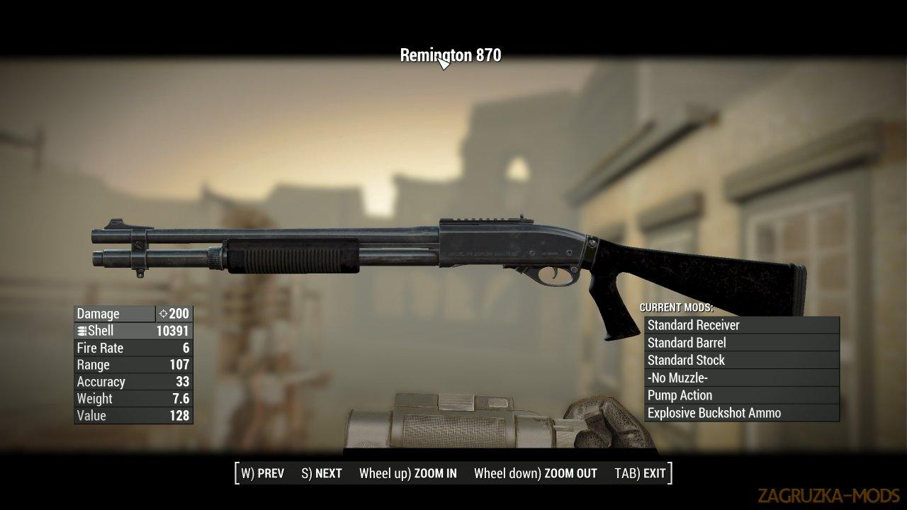 Remington 870 Shotgun v1.1 for Fallout 4
