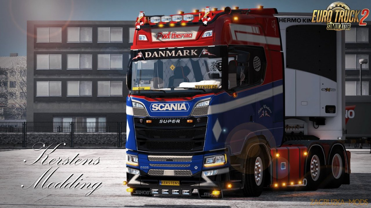 Skin PWT Thermo for Scania Next Generation S and R v1.0 (1.34.x) for ETS2