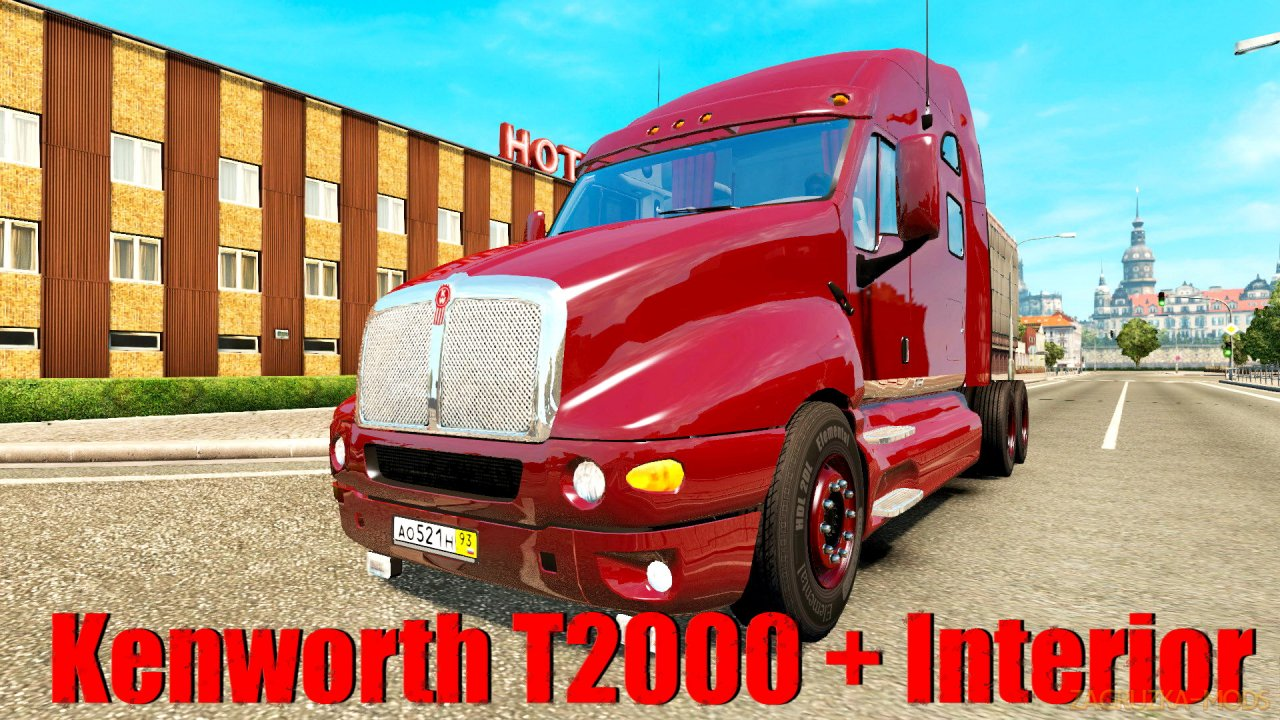 Kenworth T2000 + Interior v1.0 (1.34.x) for ATS