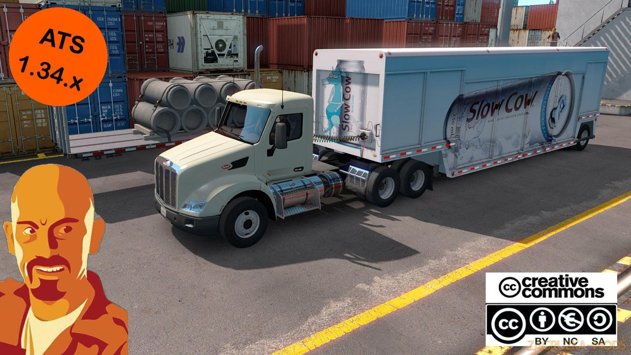 Mickeys Beverages Trailer Reworked v1.0 by CyrusTheVirus (1.34.x) for ATS
