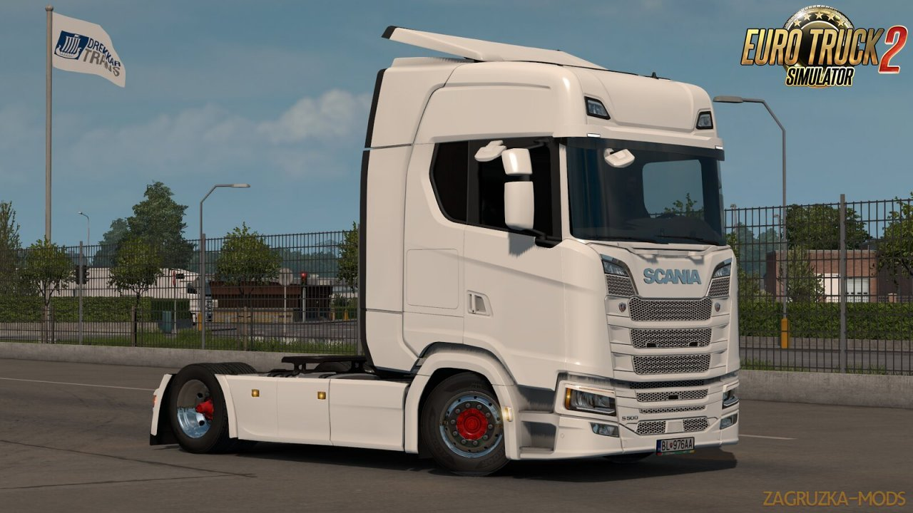 Low deck chassis addon for Scania S, R & P Nextgen v1.6 by Sogard3 [1.34.x]