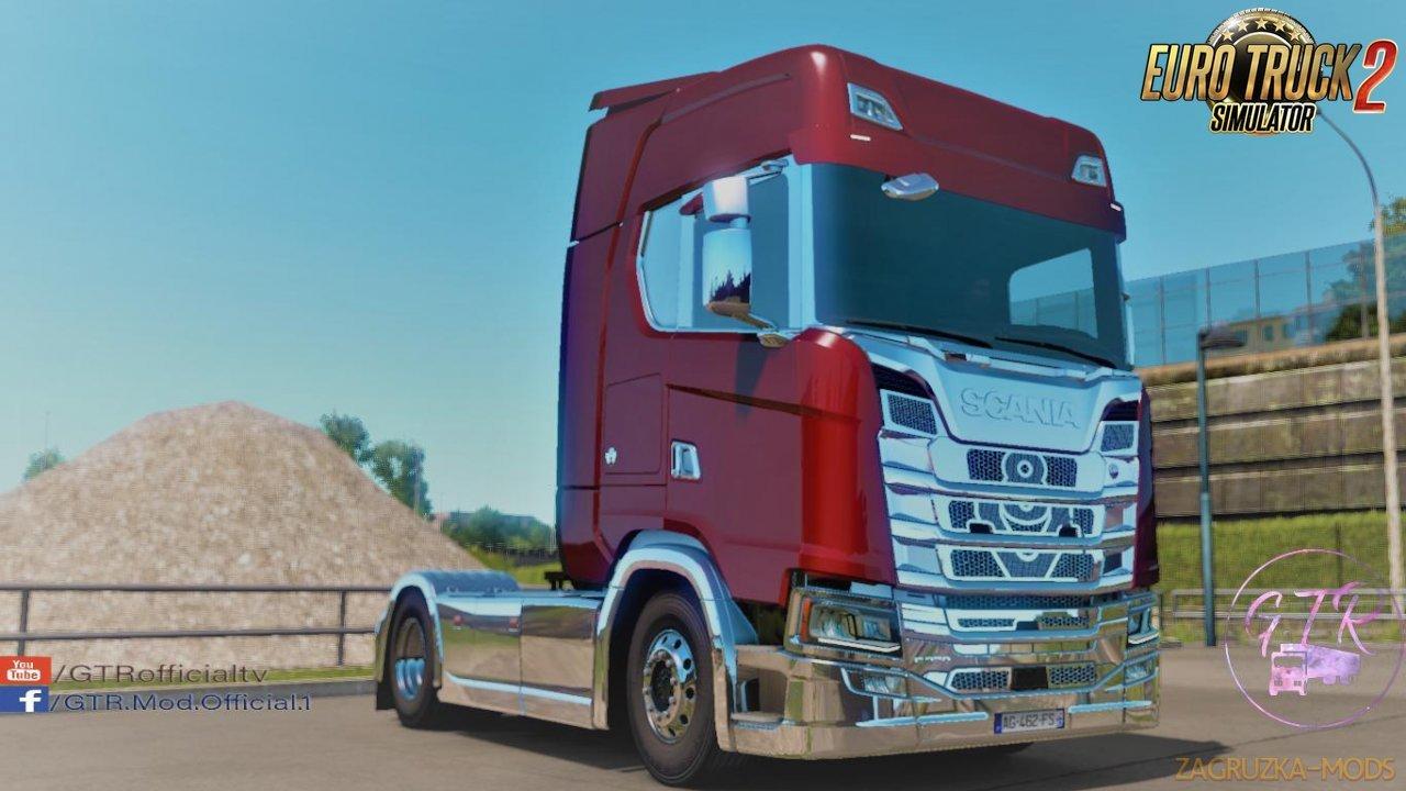 Scania S & R Next Gen Accessories Chrome v1.1 by GTR