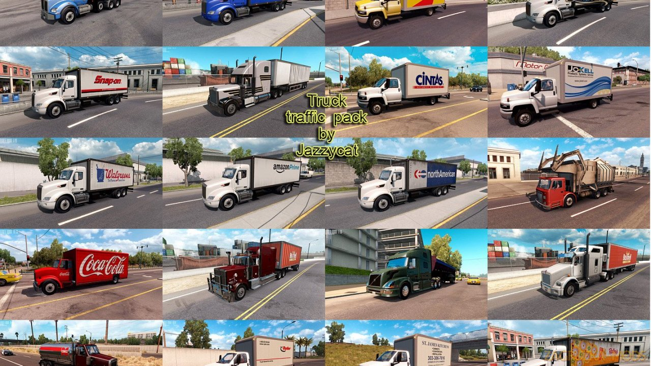 Truck Traffic Pack v2.2 by Jazzycat (1.34.x) for ATS