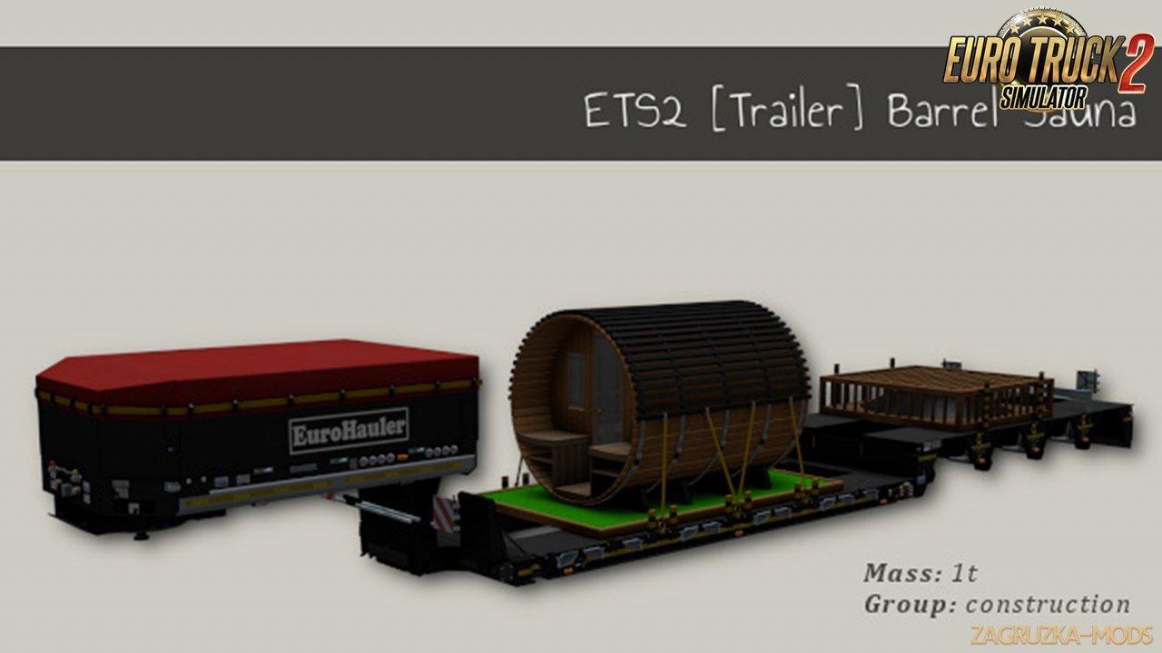 Trailer Barrel Sauna for Ets2