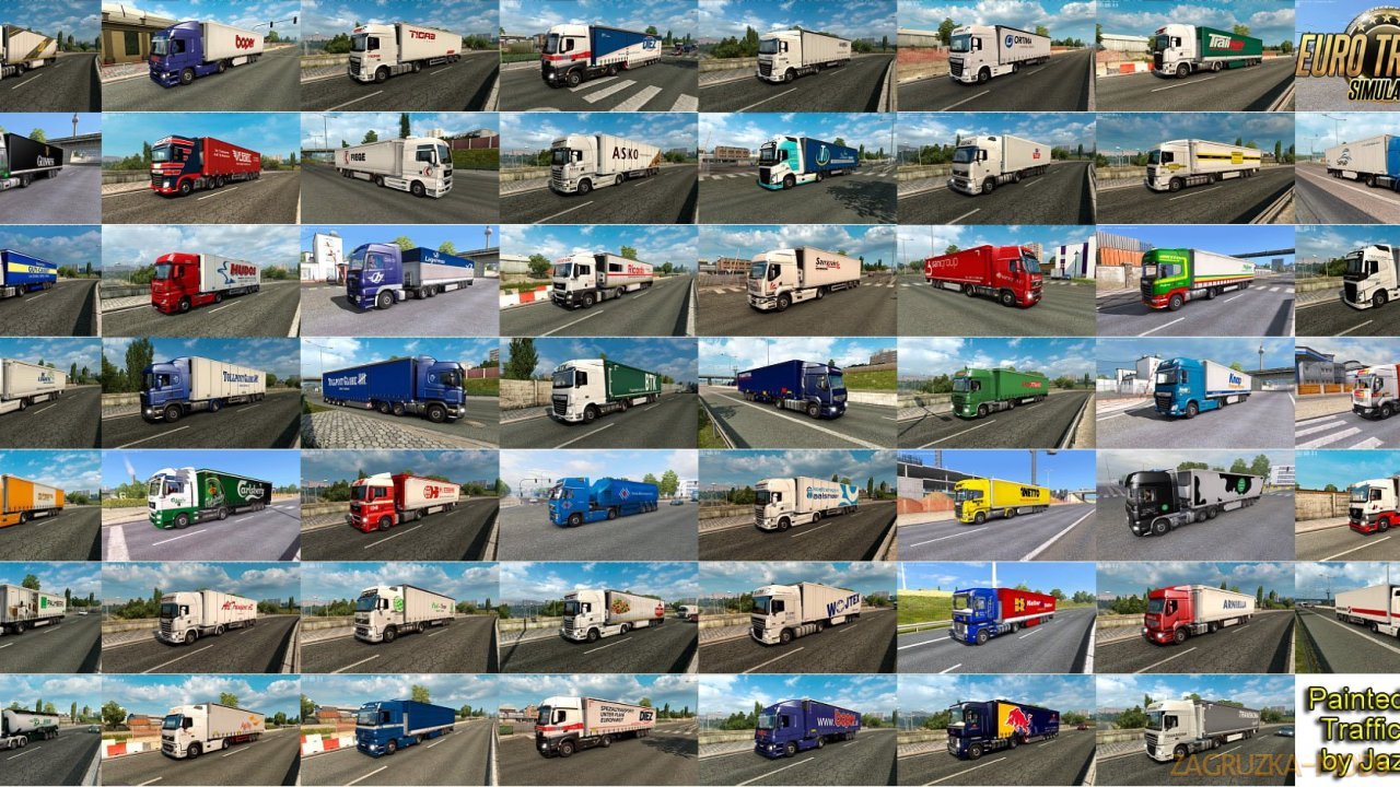Painted Truck Traffic Pack v7.8 by Jazzycat