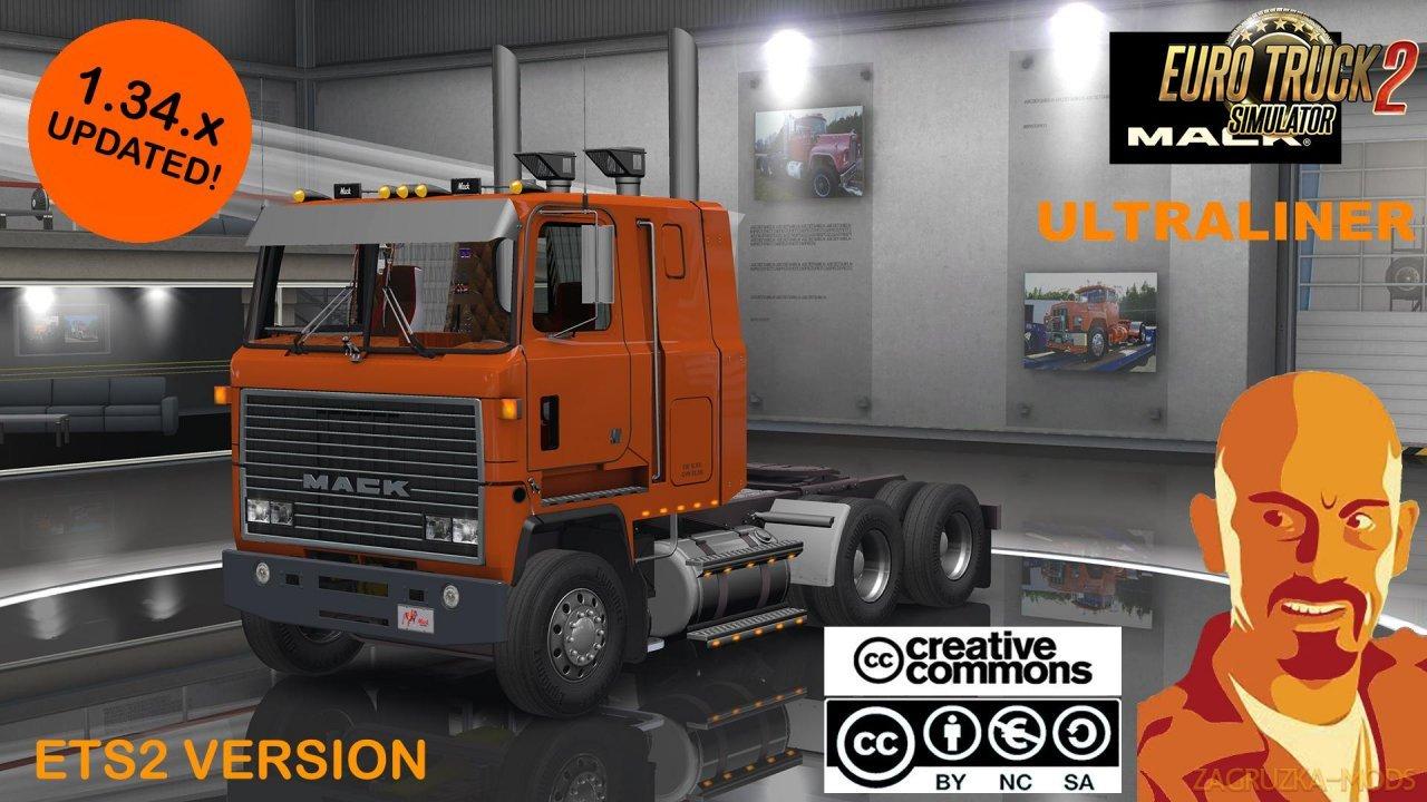 Mack Ultraliner Truck v2.0 by CyrusTheVirus (1.37.x) for ETS2