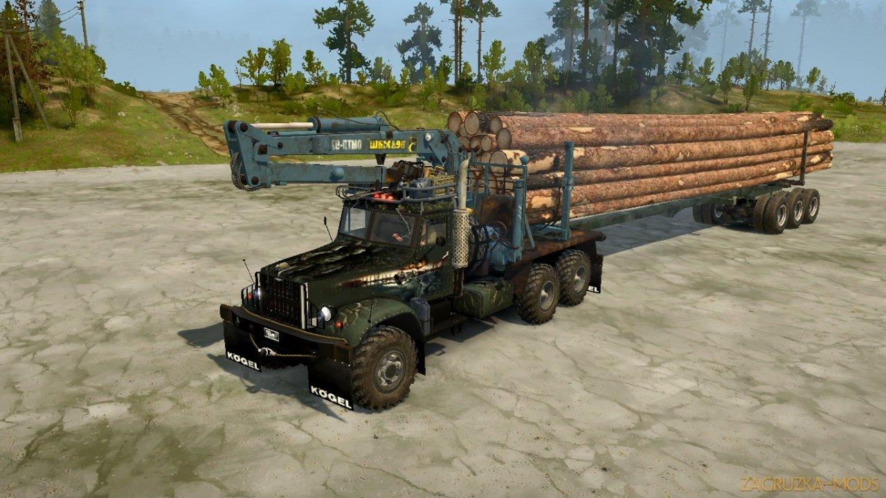 Truck YAAZ 214 (KrAZ) v1.0 for SpinTires: MudRunner