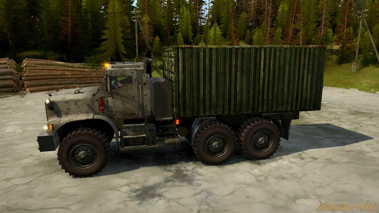 Truck MTVR 6x6 v1.0 for SpinTires: MudRunner
