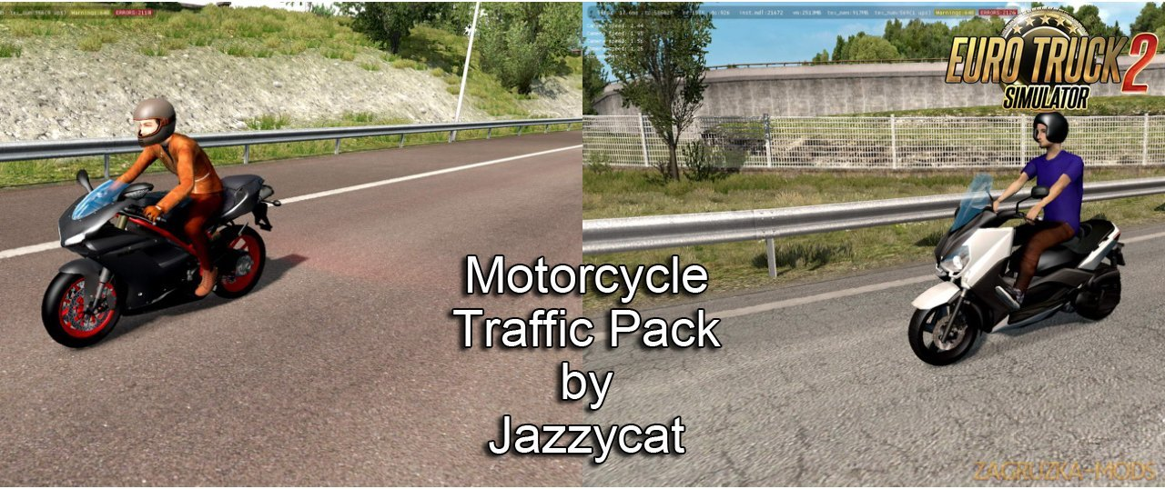 Motorcycle Traffic Pack v2.8 by Jazzycat