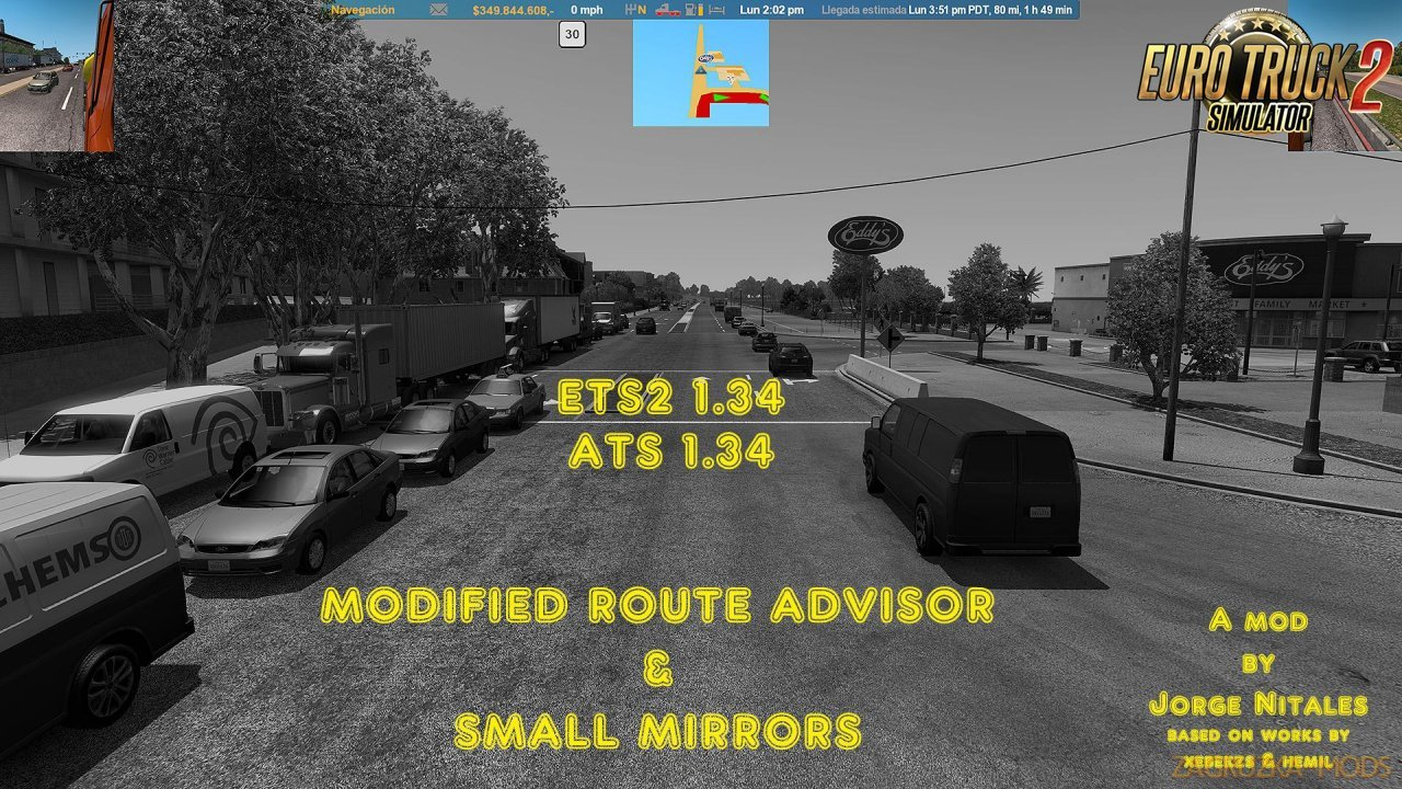 Modified Route Advisor and Small Mirrors [1.34.x]