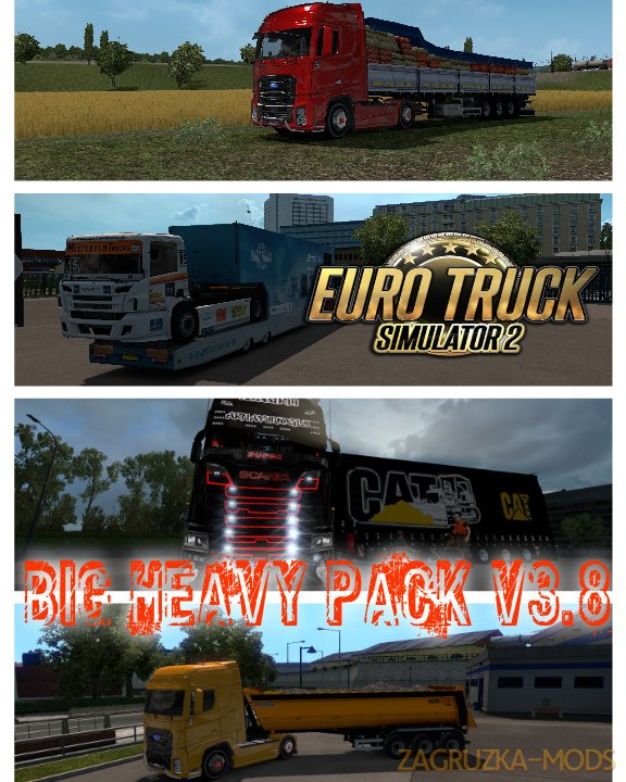 Big Heavy Pack v3.8 (1.34.x) for ETS 2