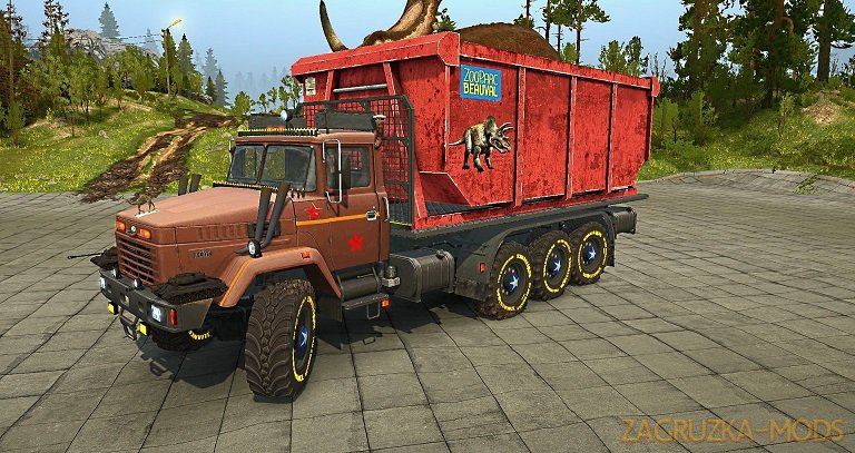 KrAZ-7140 v1.0 for SpinTires: MudRunner