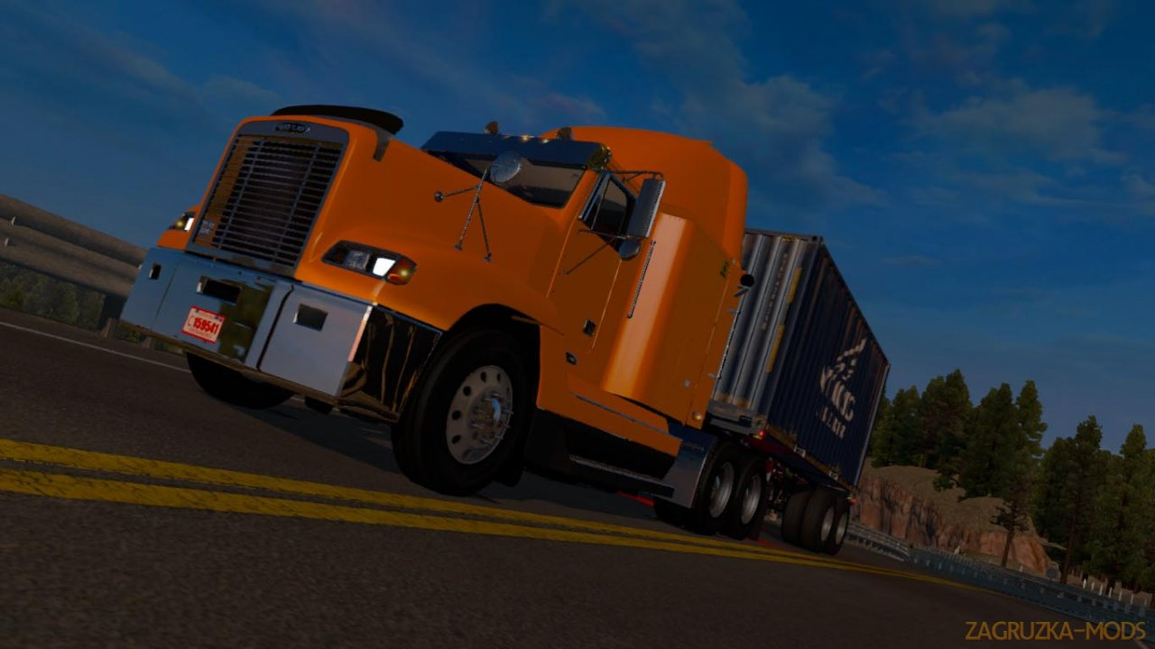 Freightliner FLD 120 Flat Top + Interior v1.0 (1.34.x) for ATS