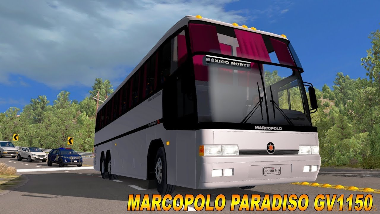 Bus Marcopolo Paradiso GV 1150 + Interior v1.0 (1.34.x) for ATS