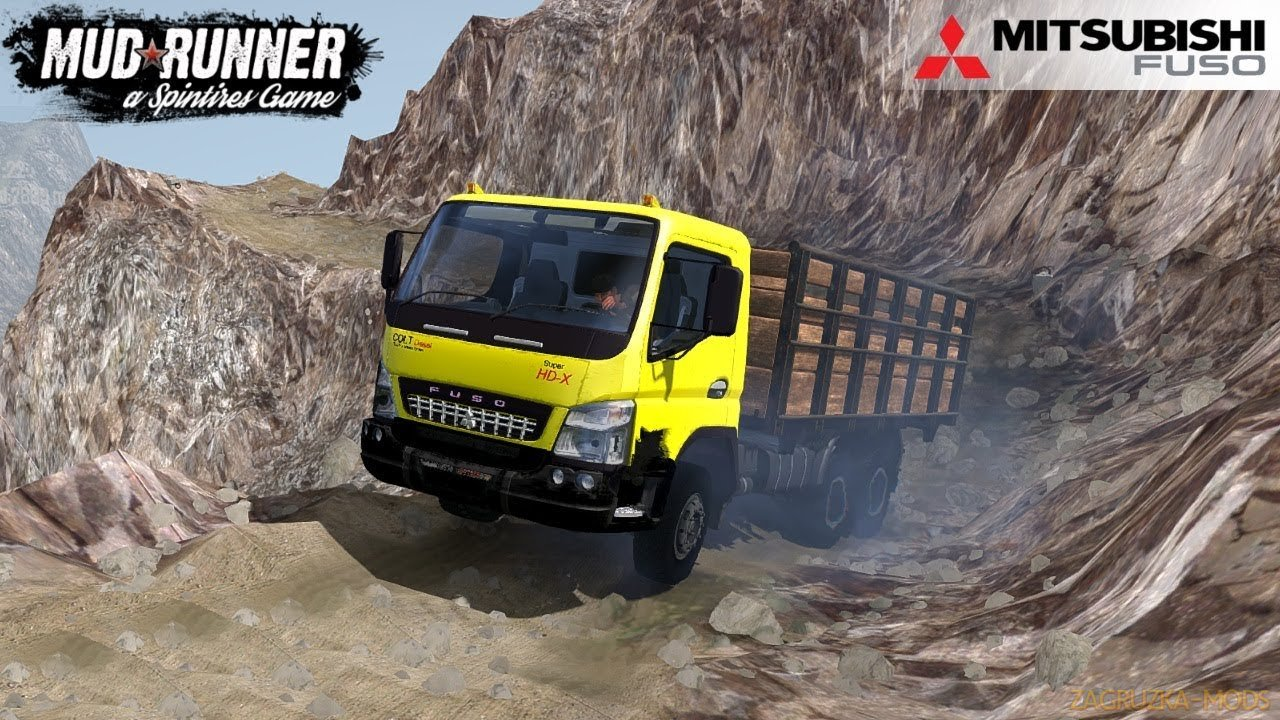 MITSUBISHI FUSO HD-X v1 0 for SpinTires: MudRunner