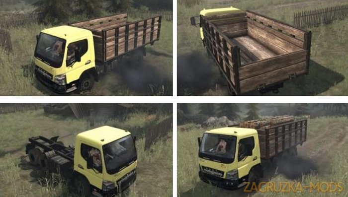 MITSUBISHI FUSO HD-X v1.0 for SpinTires: MudRunner