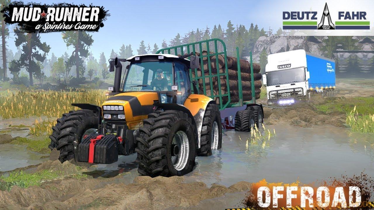 Tractor DEUTZ-FAHR AGROTRON M 620 for SpinTires: MudRunner