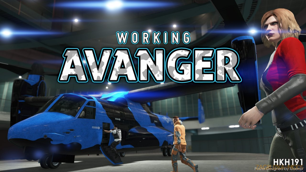 Working Avenger in SP v2.1 for GTA 5