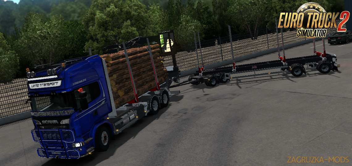 JYKI Timber Tandem Trailer v1.3.1 for Ets2