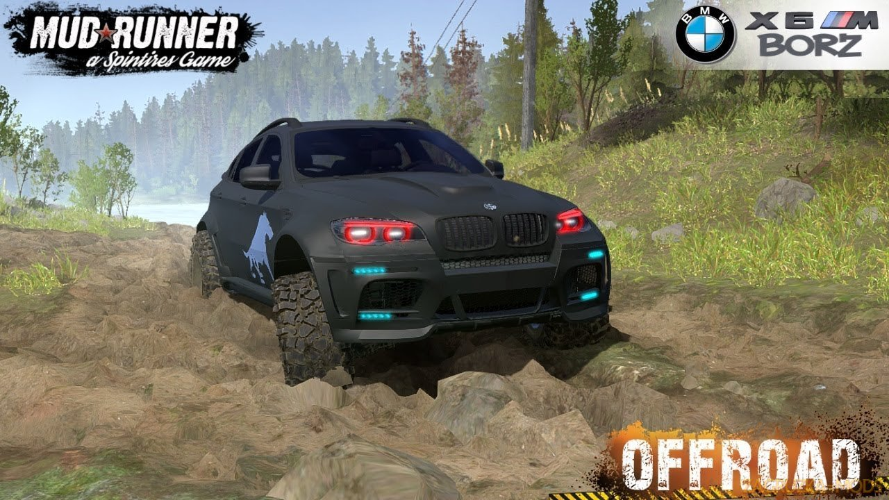 BMW X6 BORZ v1.0 for SpinTires: MudRunner
