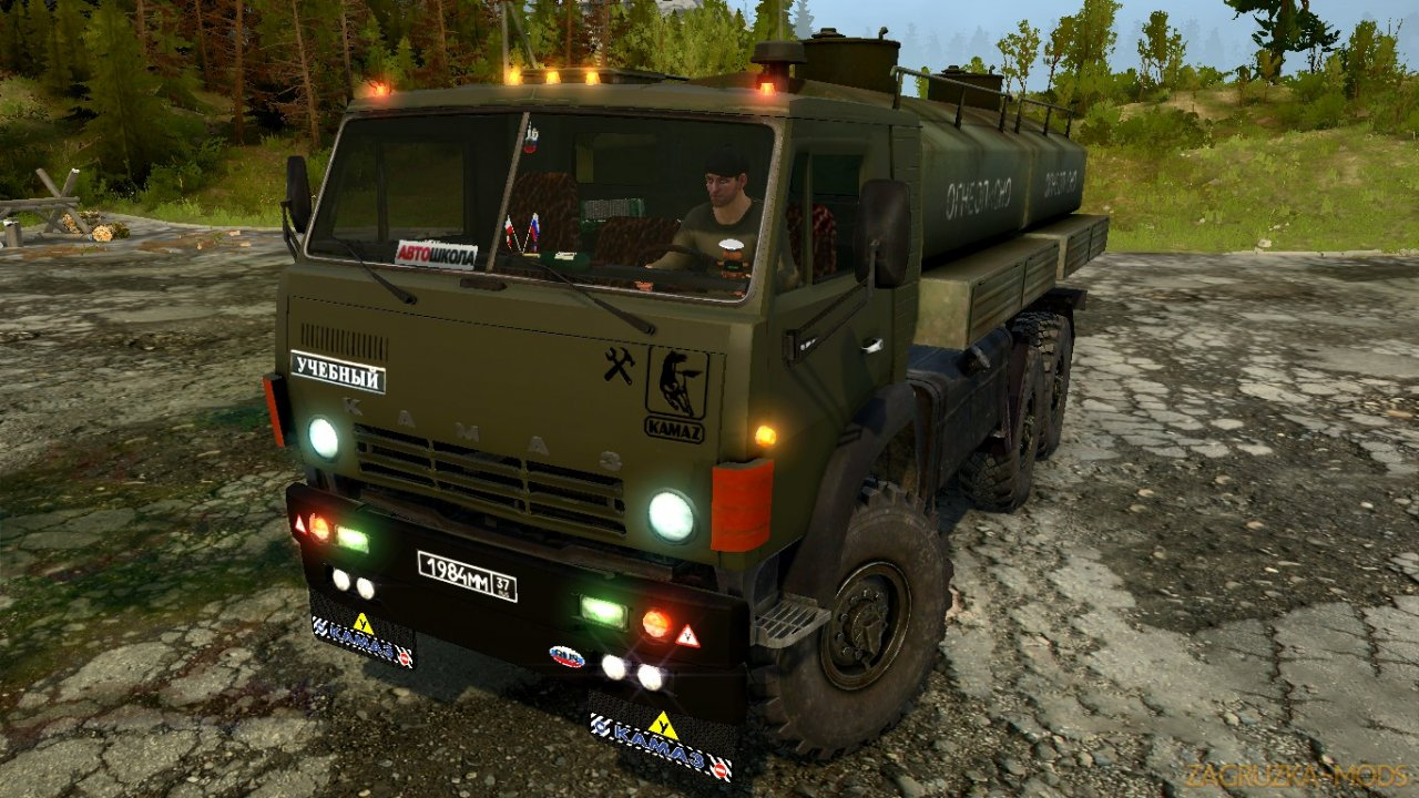 KamAZ-53201 v1.0 for SpinTires: MudRunner