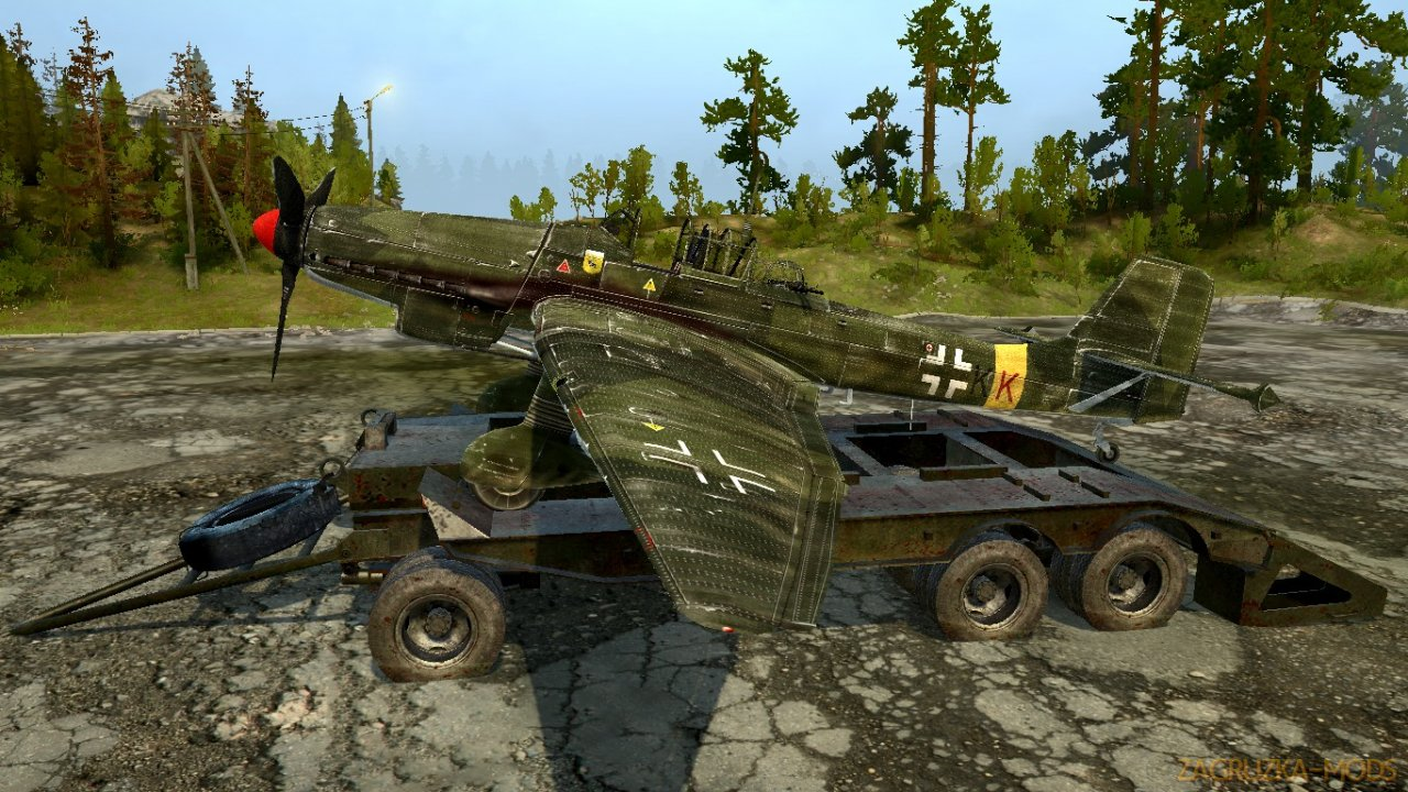 Trailer Trawl CHMZAP-520 v1.1 for Spin Tires: MudRunner