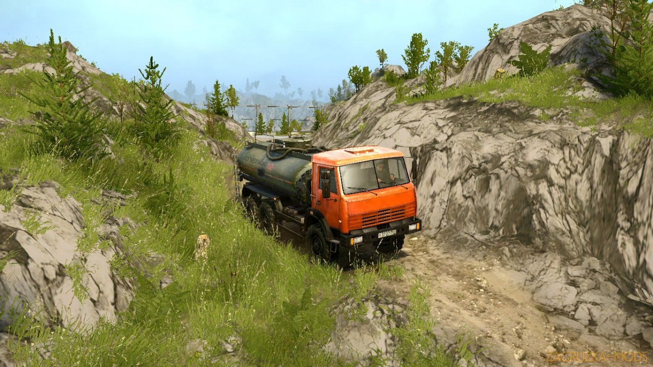 Strength of the River Map (Сила Реки) v1.0 for Spintires: MudRunner