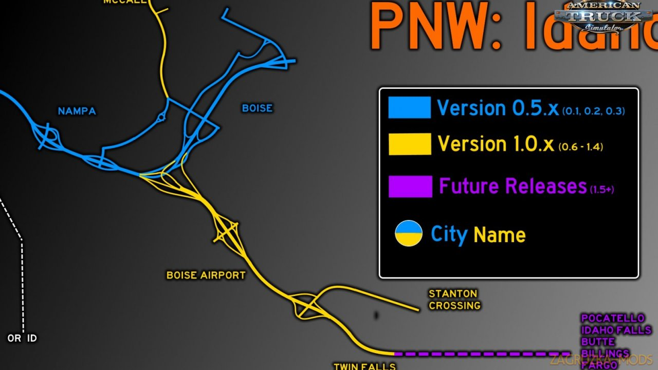 Project North West Map (Boise & Nampa) v0.1 (1.35.x) for ATS