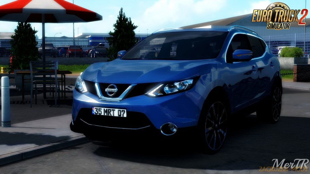 Nissan Qashqai 2016 + Interior v1.1 by MerTR (1.38.x) for ETS2