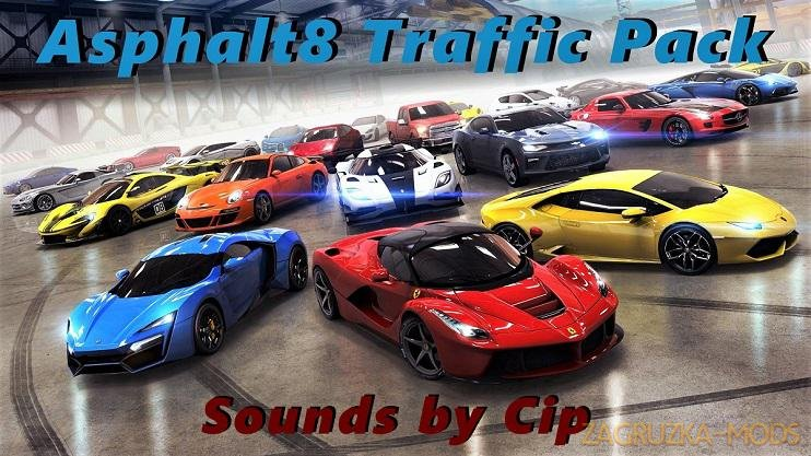 Asphalt8 Traffic Pack v1.0 Edit by Cip (1.35.x) for ETS2